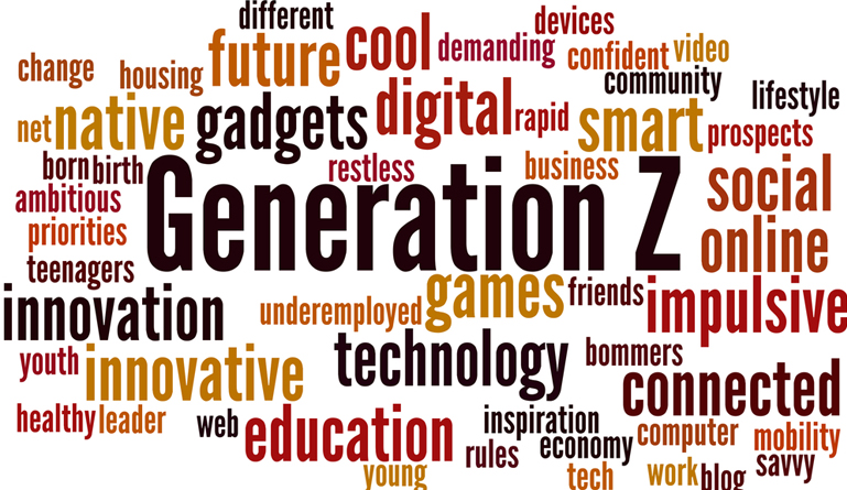 Gen Z word cloud