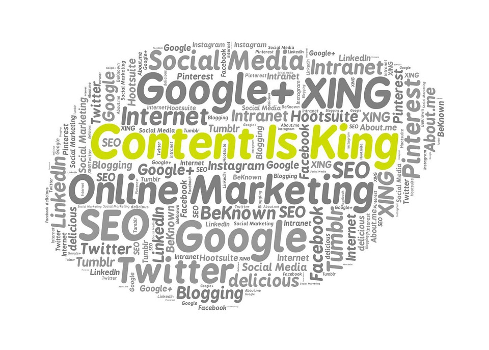 Content is kind word cloud