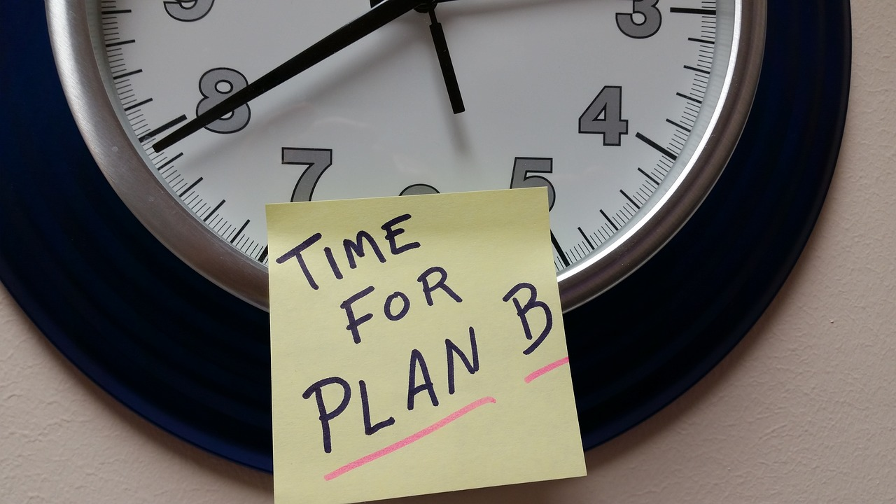 Time For Plan B Clock